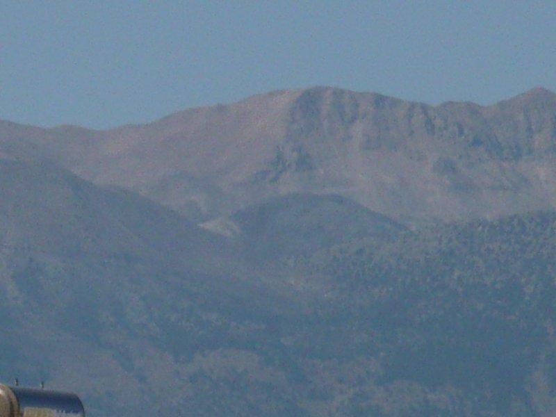 De prachtige White bergen. Je kan dit zien vanaf de top balkon