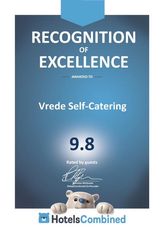 2016 HotelsCombined Recognition of Excellence Award
