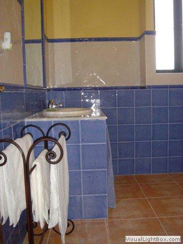 Vista parcial del baño completo