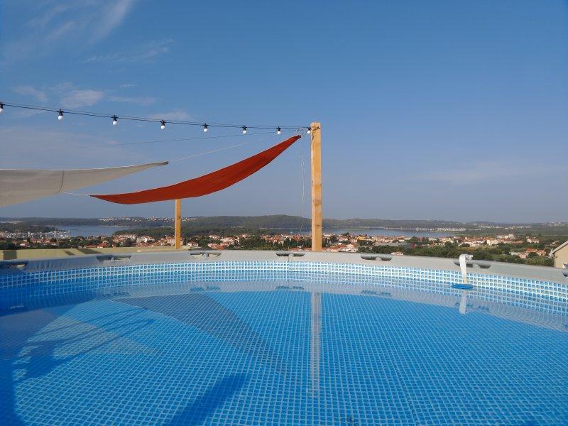 sous forme de vue unique et magnifique terrasse sur le toit