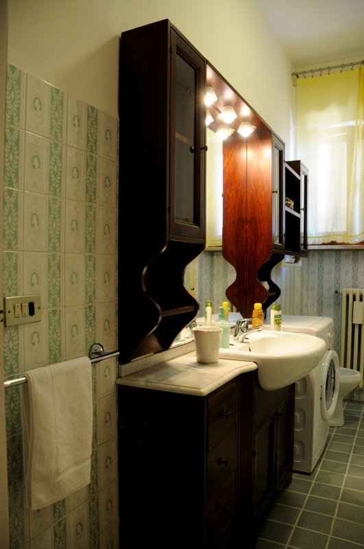 bathroom with all the services and with washing machine.