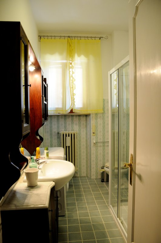 bathroom with all amenities and feature washers
