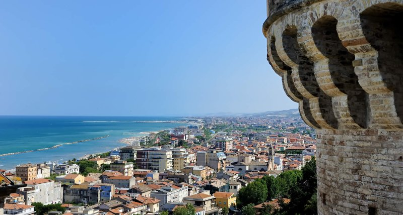 """View of San Benedetto del Tronto from """"High Country"""""""