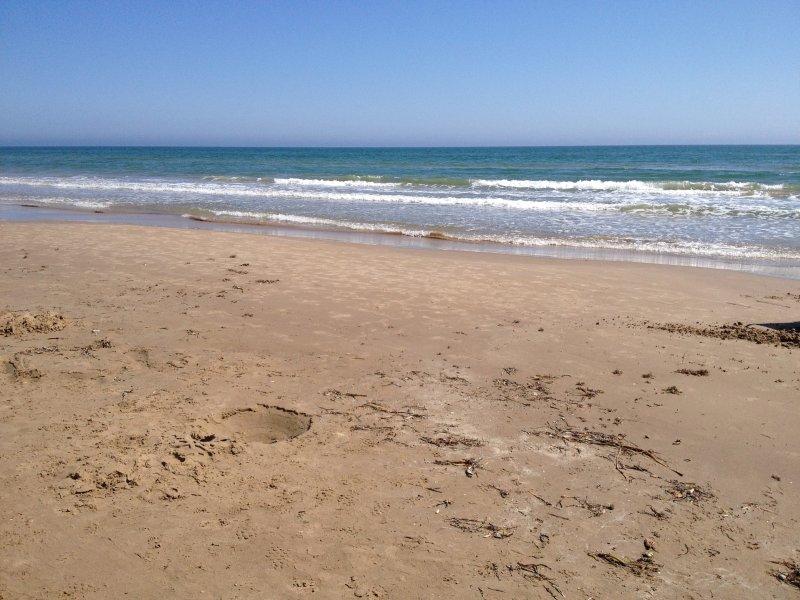 Wat een geweldig uitzicht op het strand !!