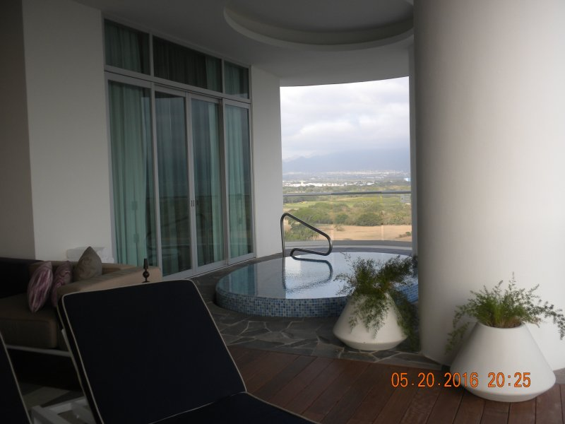 A view outside master suite of the plunge pool