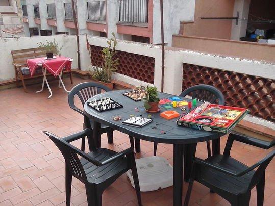 juegos de mesa en terraza