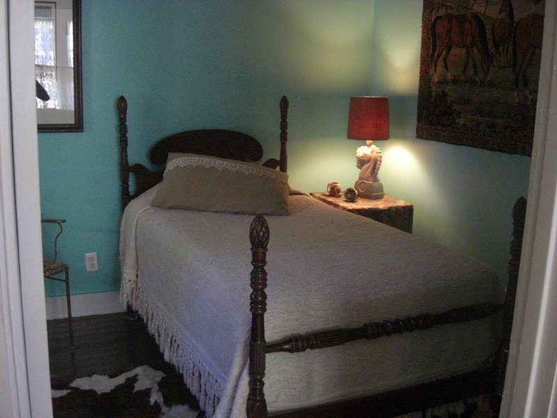twin bed with cowboy decor