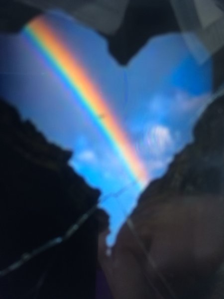 Rainbow heart for the rainy season