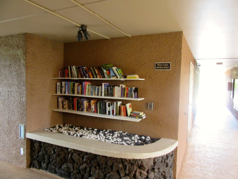 Cute little libraries are in all of the building at Maui Vista.