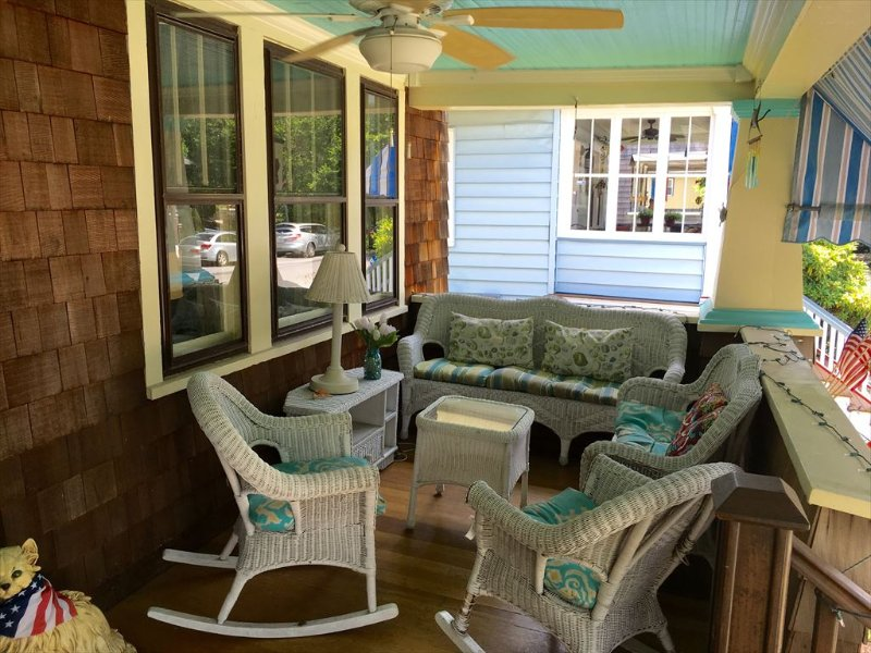 Front Covered Porch. Awning. Ceiling Fan. Lighting.