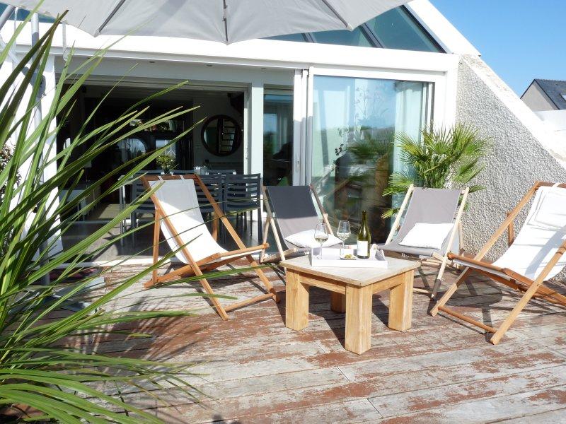 Maison sur la plage dans copropriété, holiday rental in La Turballe