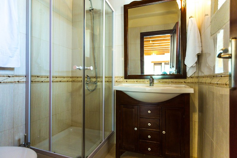 Bathroom with glass shower cabin!
