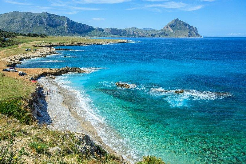 La plage de Monte Cofano