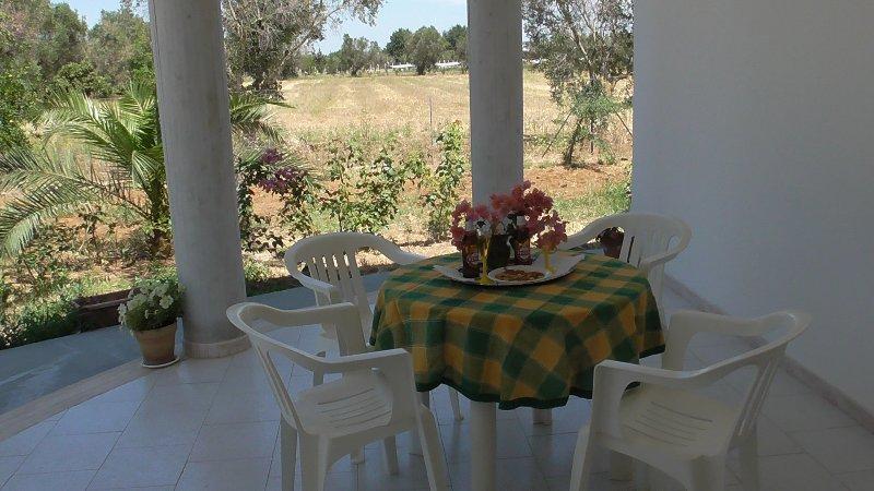 Casa in campagna con giardino recintato - 8 posti, aluguéis de temporada em Matino