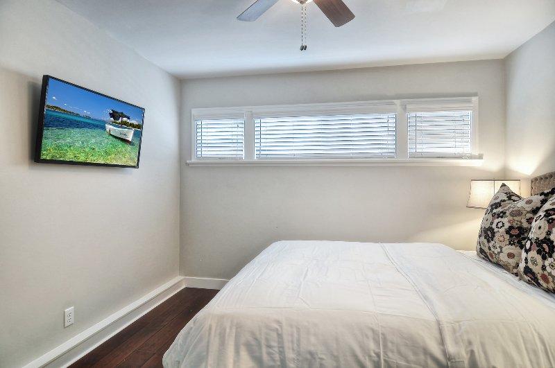 Bedroom #1 has flat screen tv