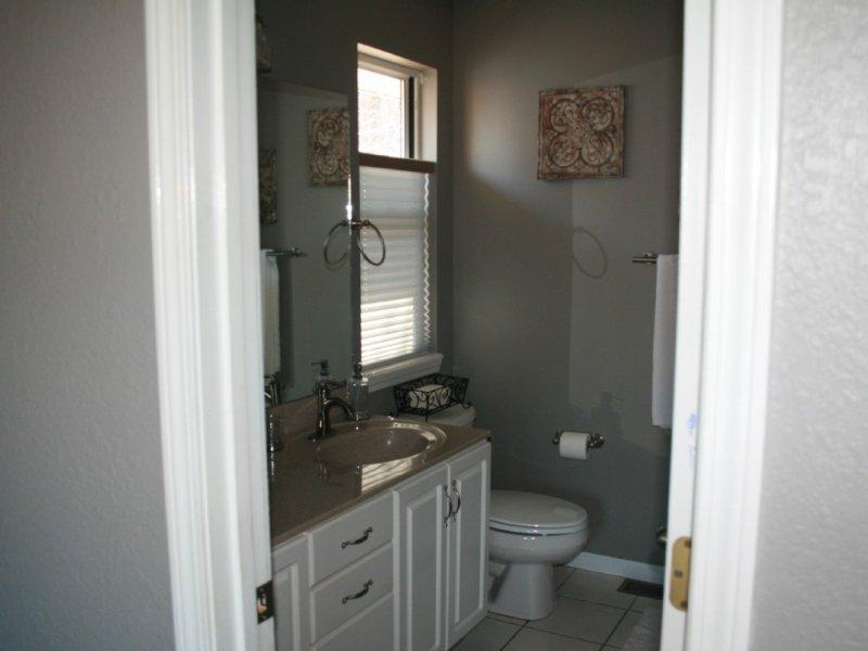 Master bathroom on mail level.