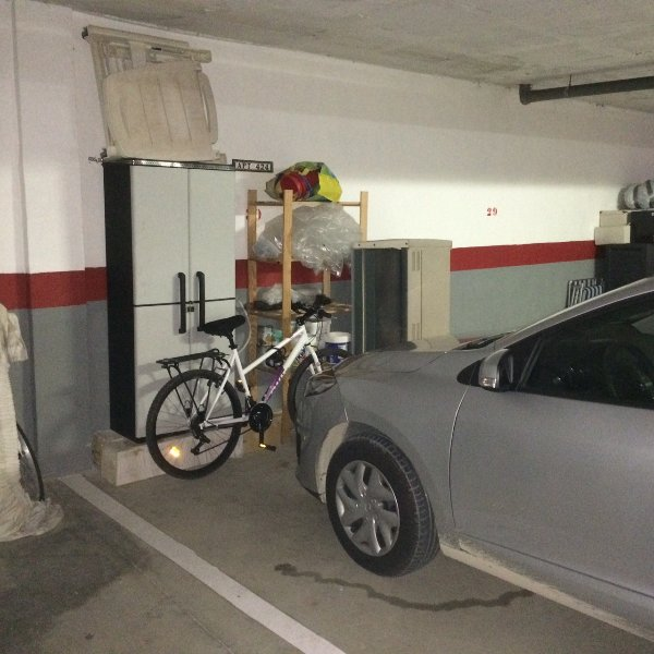 Garage parking space-no 30. two adult mountain bikes