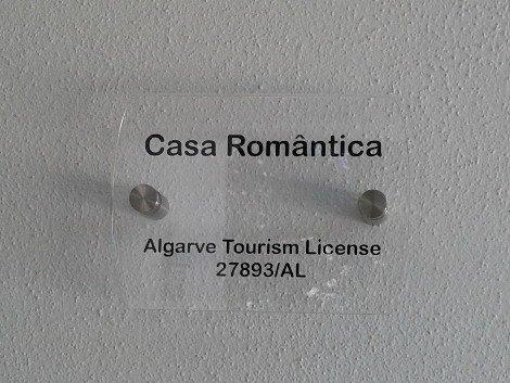 Casa Romantica Tourist License