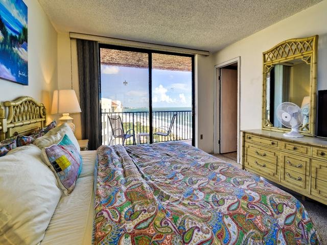Beach views and balcony access from the mater bedroom