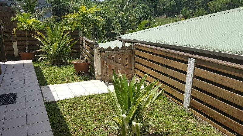 jardim privado para cada bungalow