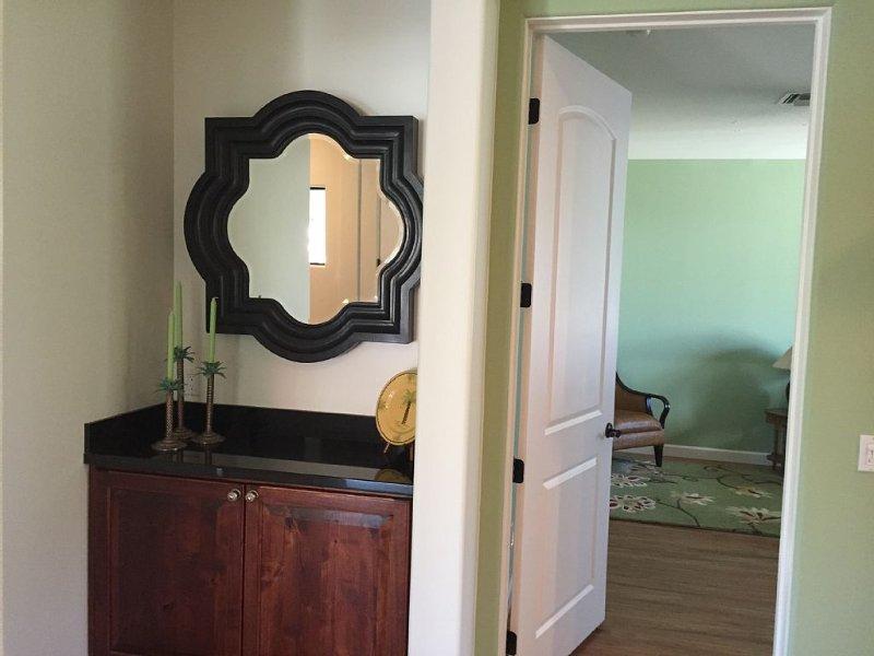 Entryway view into Queen bedroom