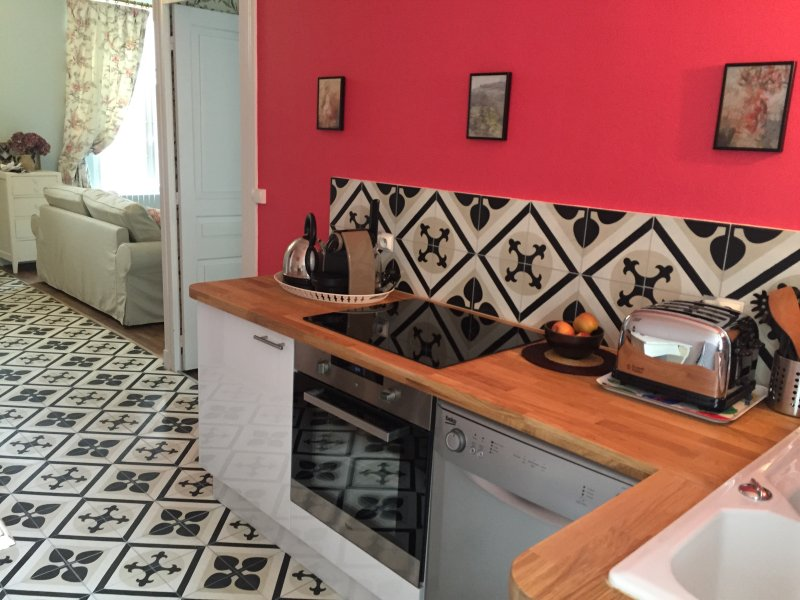 Loire Valley Romantic one bedroom Villa with fully equipped kitchen and garden view