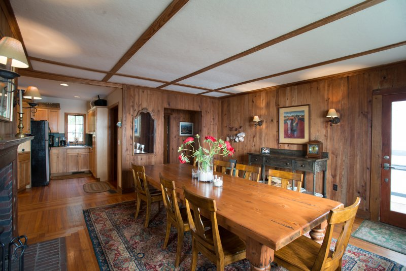 Other view of dining room adjacent to kitchen