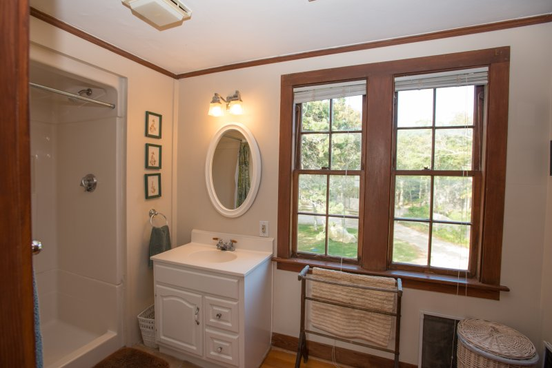Master Bath with shower and walk in closet