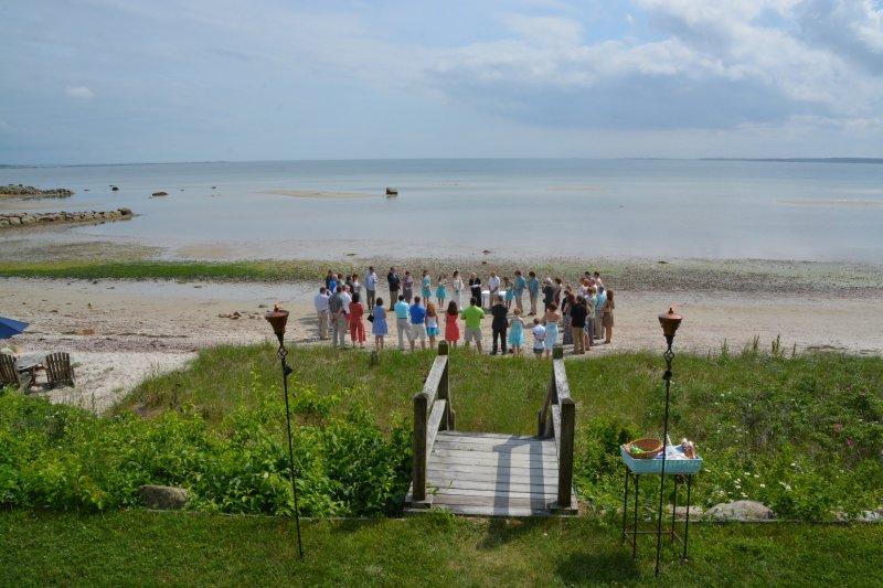 Just one of many lovely, small, intimate weddings on beach