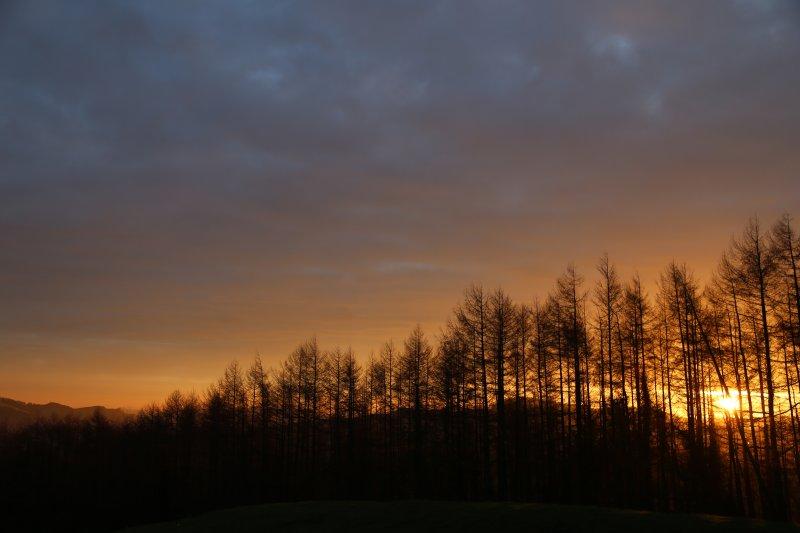 Sunset on the hills