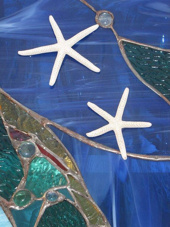 Personnalisé vitrail réalisé par Savannah locale Artiste.