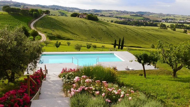 Family villa. Rural setting. Spectacular pool. Near sandy beach., location de vacances à Province of Ancona
