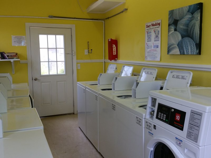 Air conditioned laundry room