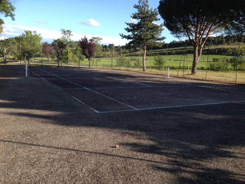 Local tennis court in the village - we have equipment