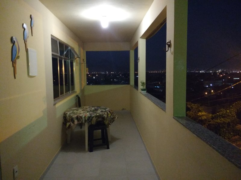 large balcony with two networks and an optimal view and airy ideal for a good barbecue