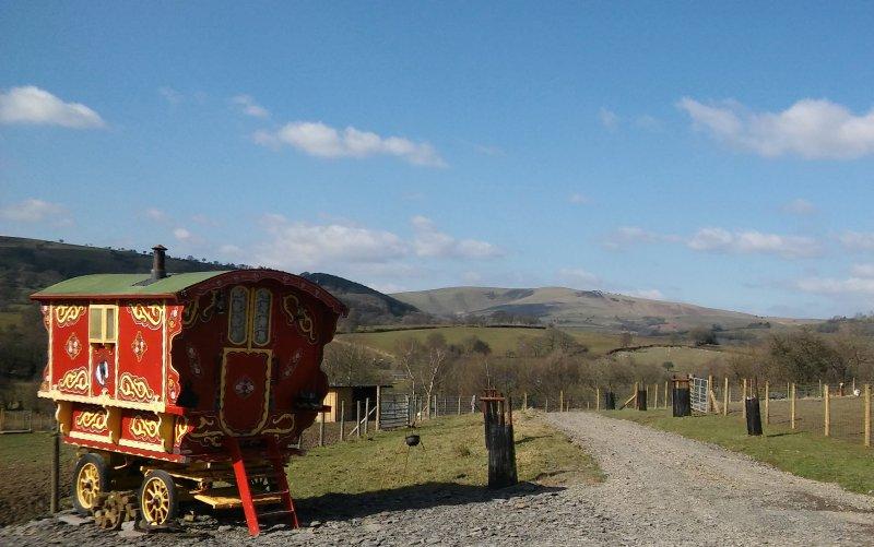 'Rosie' Our Burton Gypsy Caravan with stunning views