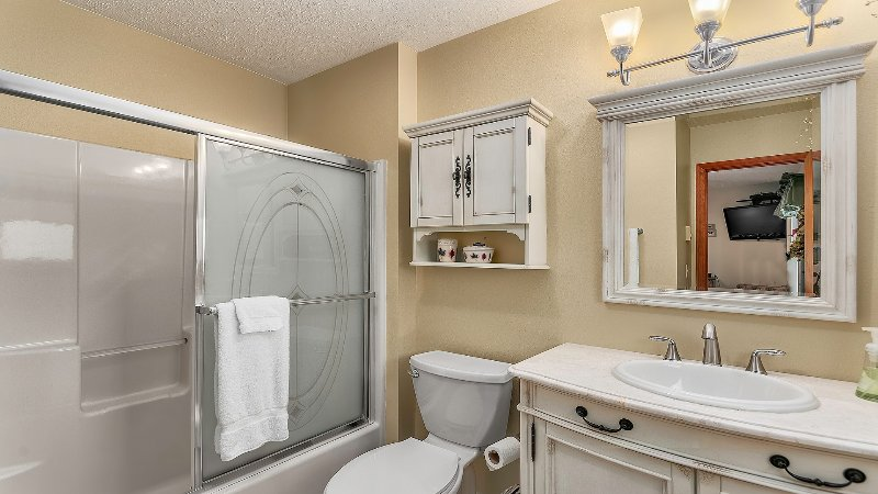 Master Bathroom with Shower/Tub Combo.
