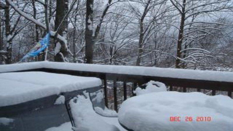 Snow on the Deck. Christmas 2010.