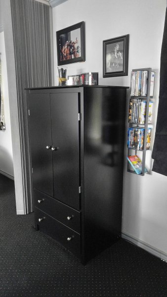 Wardrobe and DVD & Blue Ray rack