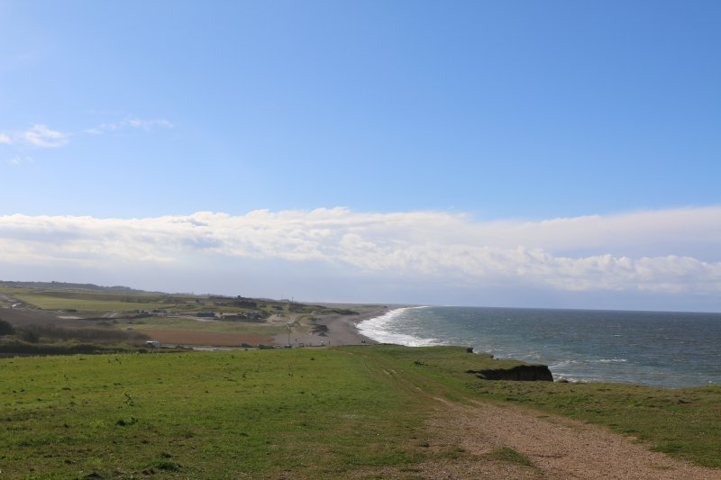 Blue skies on the cliff walk from Sheringham to Weybourne