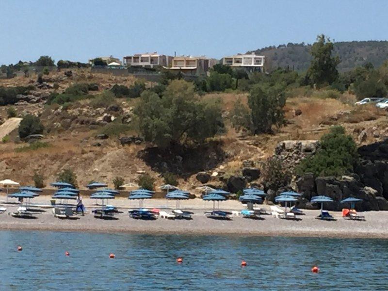 les villas de la plage de la baie de Vlicha