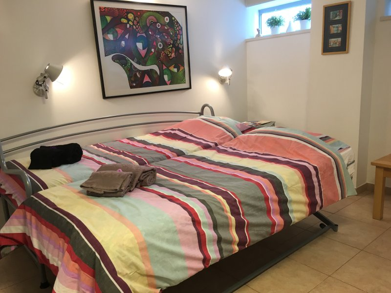Deux lits confortables, avec des matelas orthopédiques.