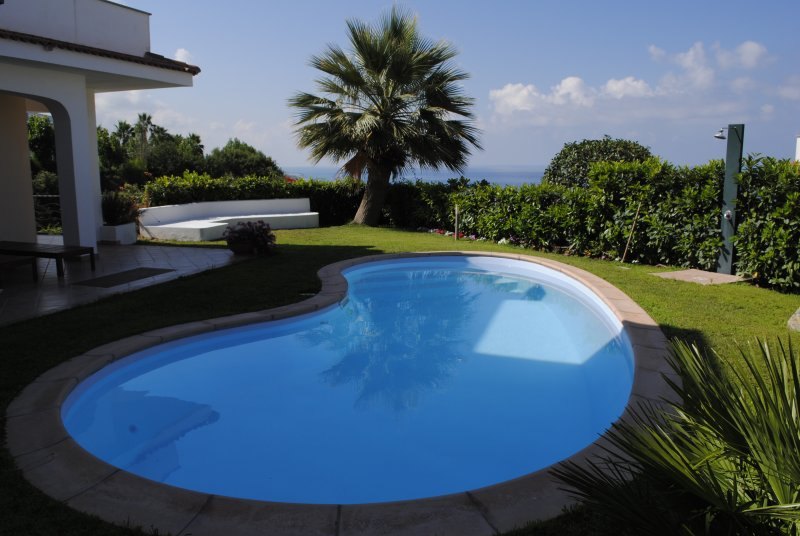 private pool of the villa. Guests of the two apartments in the villa can use it