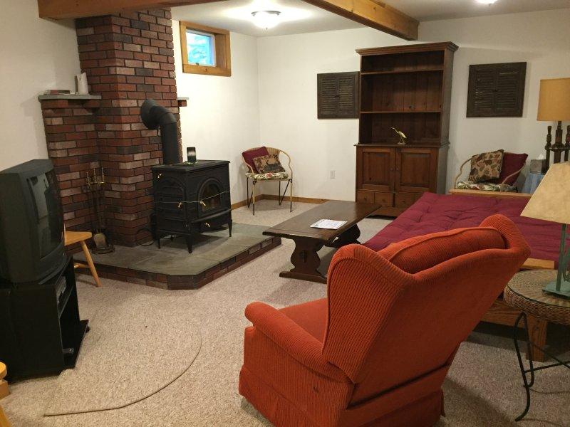 Living room on lower floor