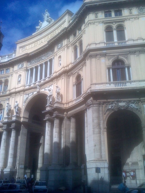 External view of Galleria Umberto I, 20 min by foot