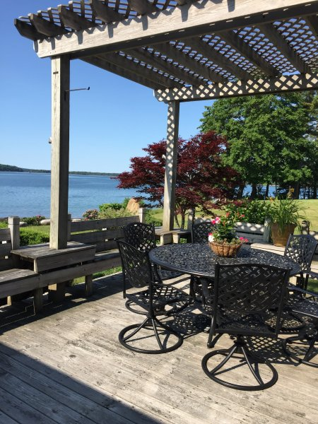 Enjoy lunch on the deck