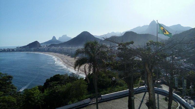 Copacabana Beach - View of Fort of Leme