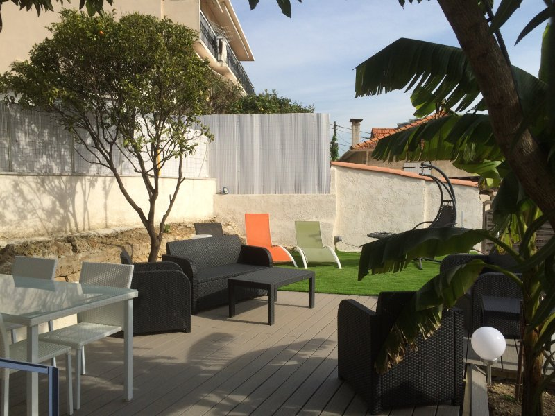 Private shaded terrace at the apartment