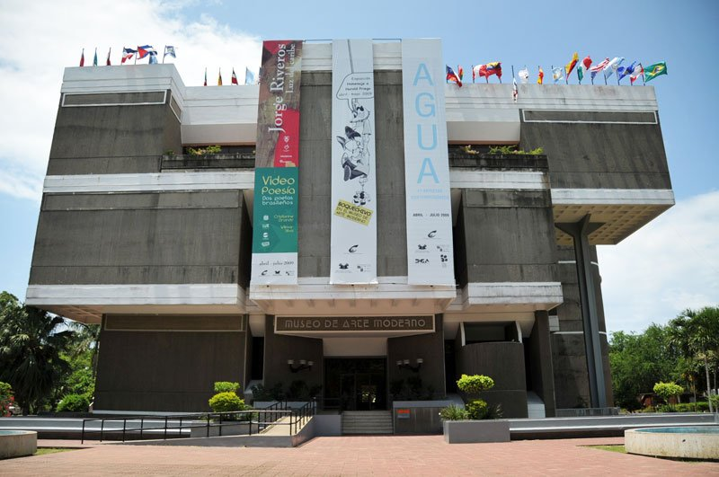 Just across the street is Plaza de la Cultura - This is the Museo de Arte Moderno.