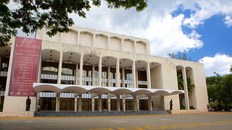 Just across the street is Plaza de la Cultura - This is the Teatro Nacional.